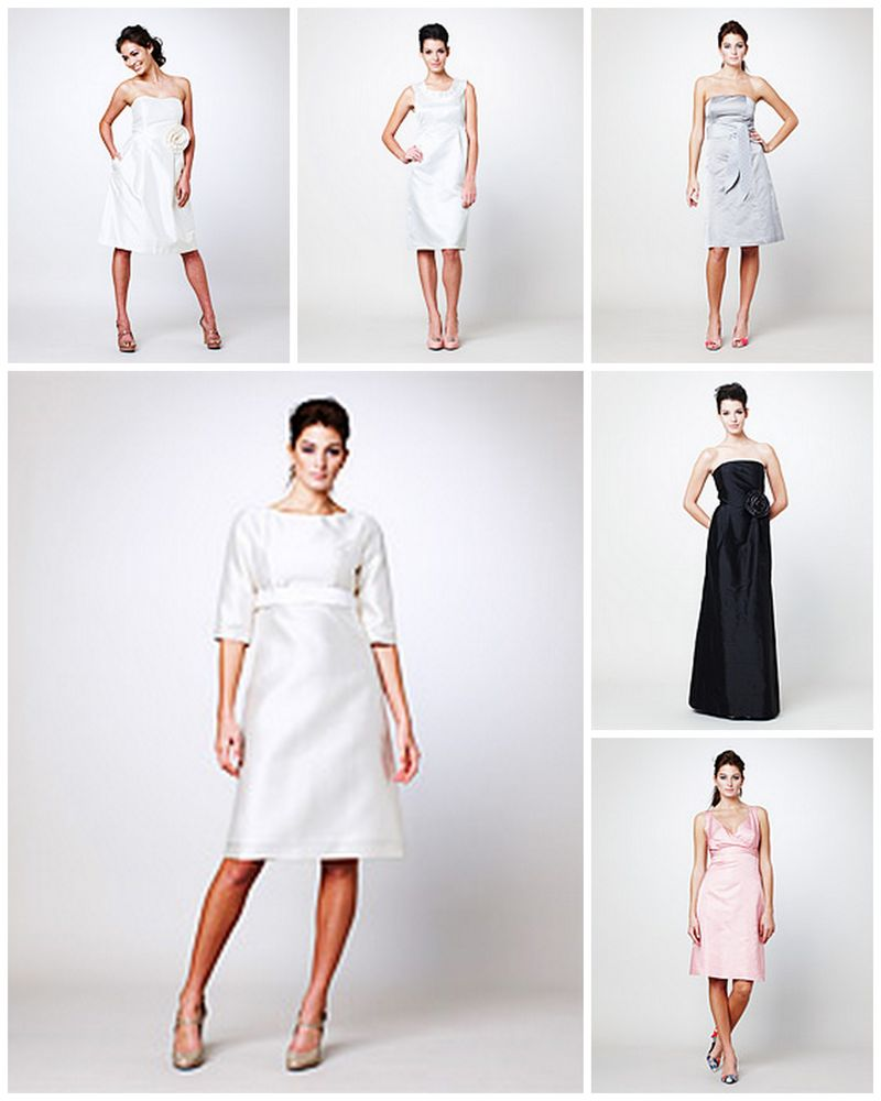 Simple Dress Bride and Bridesmaids dresses